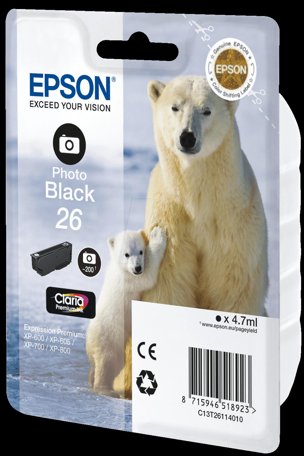TINTE T2611 - Tinte - Epson - photoschwarz - T2611 - original