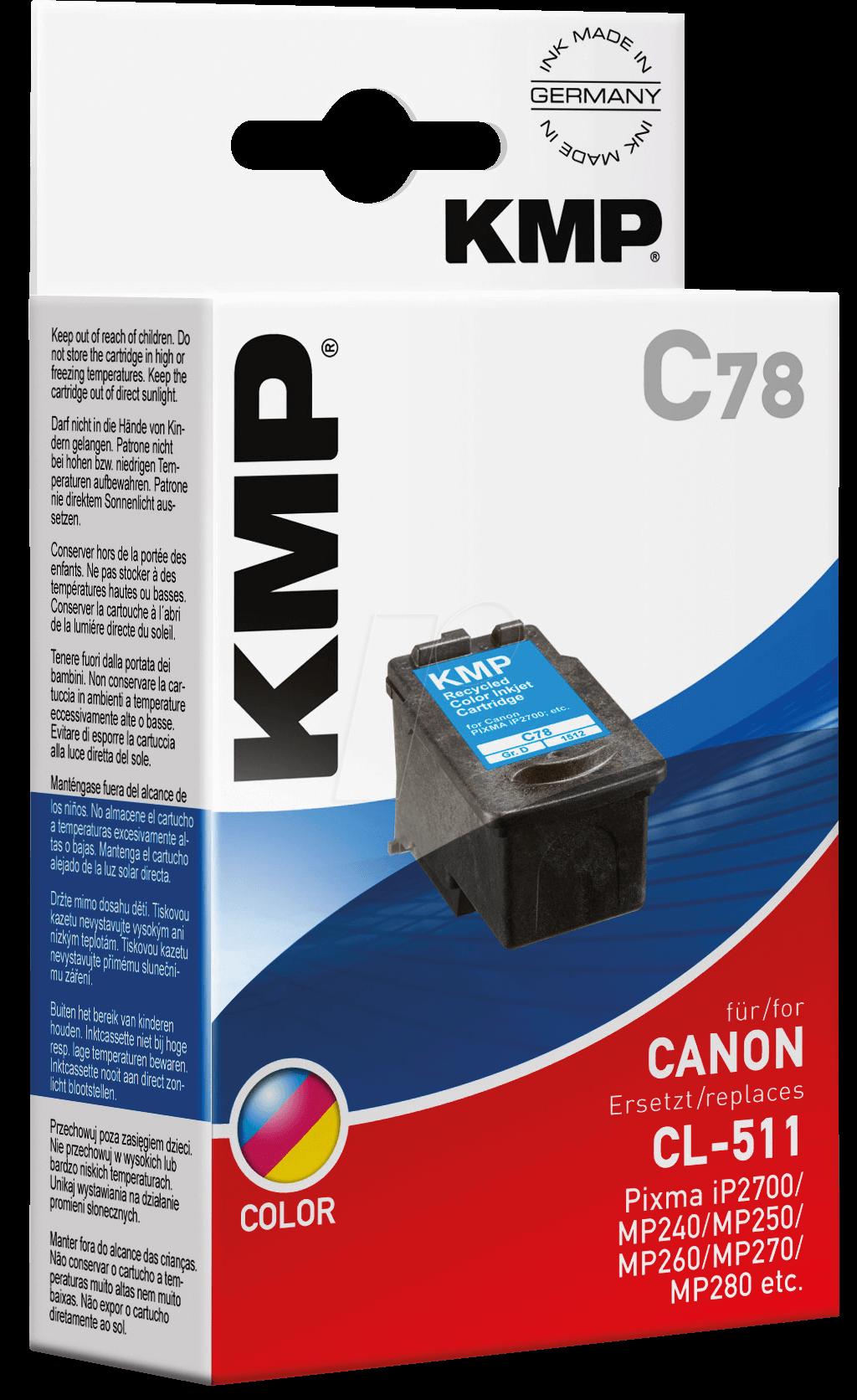 KMP 1512,4030 - Tinte - Canon - 3-farbig - CL-511 - refill