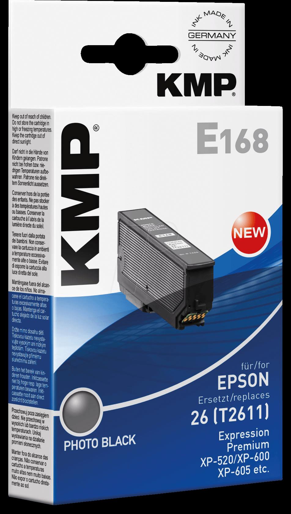 KMP 1626,4841 - Tinte - Epson - fotoschwarz - T2611 - refill