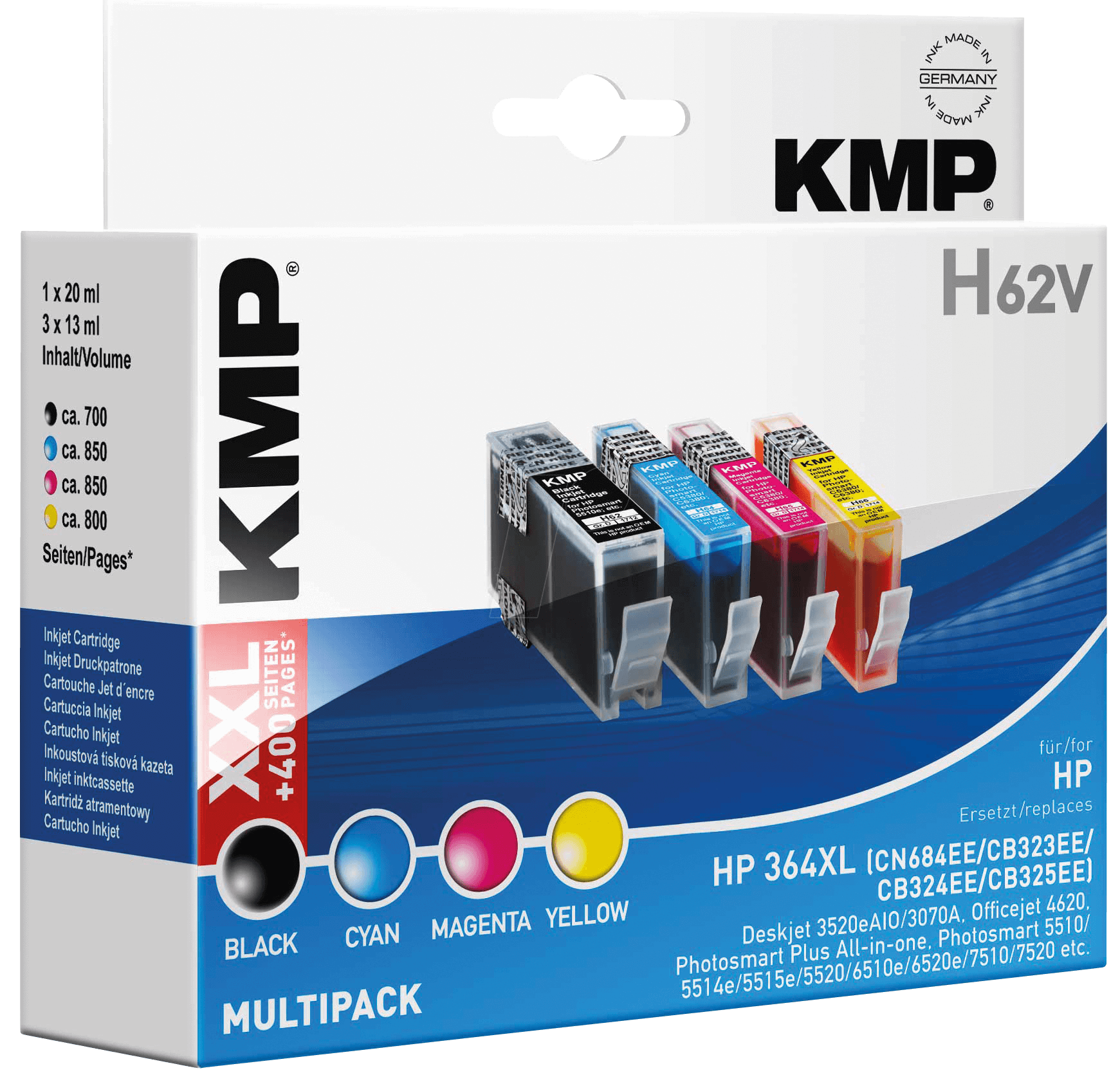 tinte kmp h62v ink hp multipack 364xl refill at. Black Bedroom Furniture Sets. Home Design Ideas