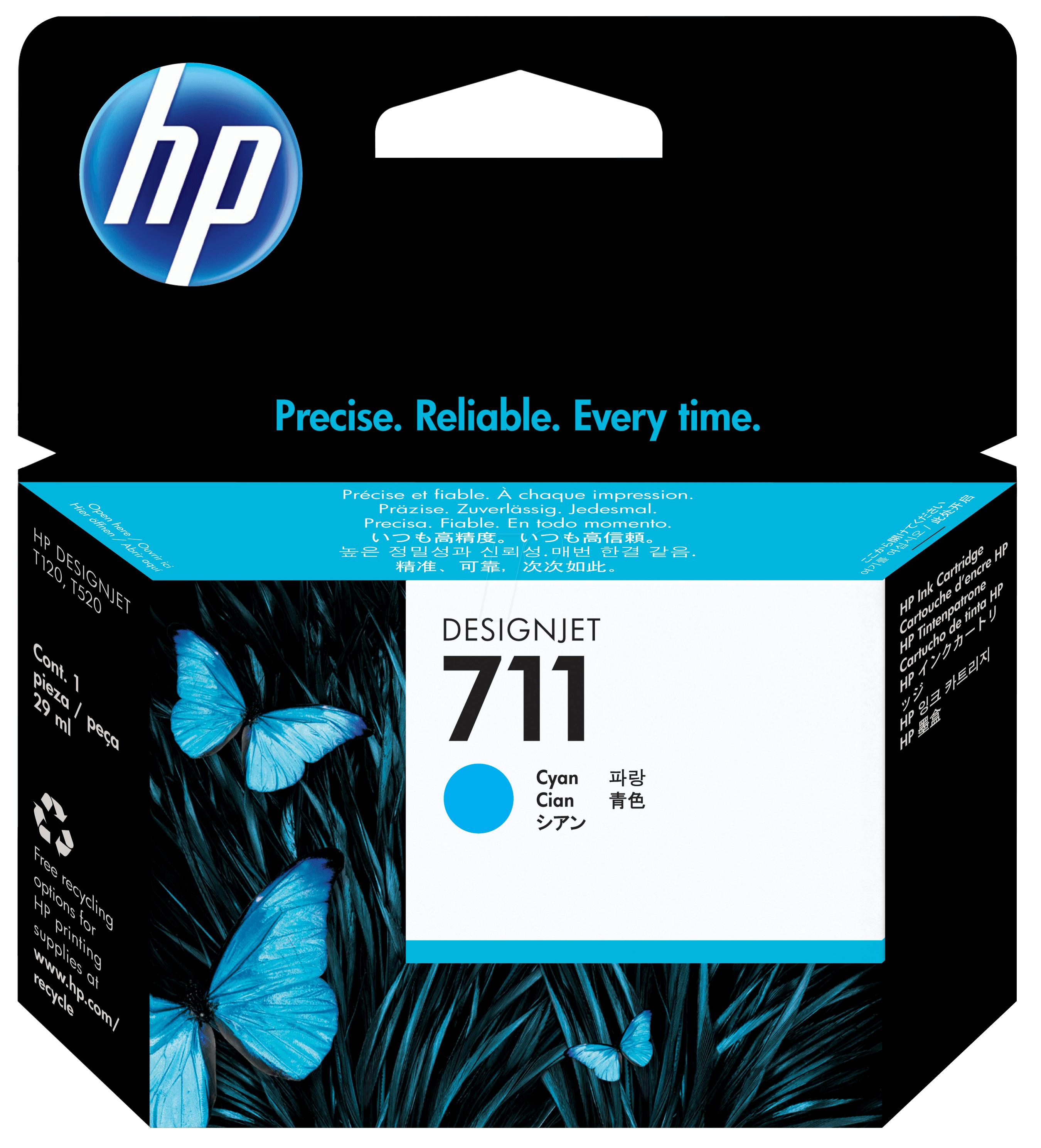 TINTE CZ130A - Tinte - HP - cyan - 711 - original