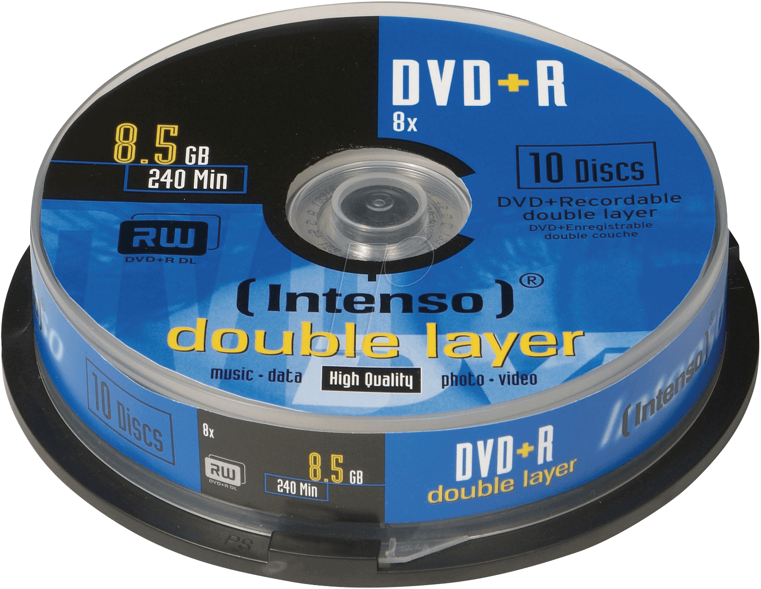 dvd r8 5 int10 intenso dvd r 8 5 gb 10 disc pack double. Black Bedroom Furniture Sets. Home Design Ideas