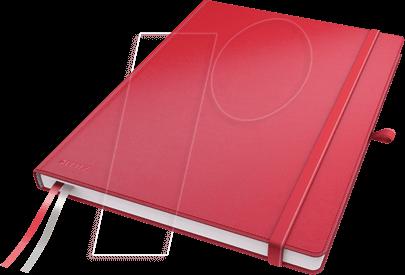 44710025 - Leitz Notizbuch A4 kariert, fester Einband, rot