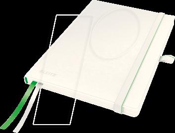 44770001 - Leitz Notizbuch A5 kariert, fester Einband, weiß