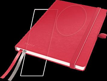 44770025 - Leitz Notizbuch A5 kariert, fester Einband, rot