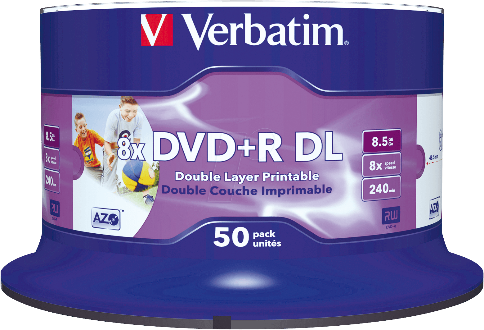 dvd r8 5 ver50pn verbatim dvd r 8 5 gb 50 discs double. Black Bedroom Furniture Sets. Home Design Ideas