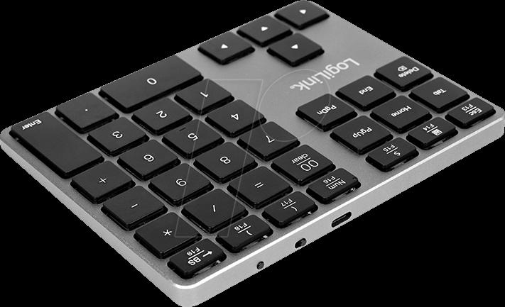Bloc dnum/éros Bluetooth avec 35 Touches et Touches de Fonction pour Windows//MacOS LogiLink ID0187