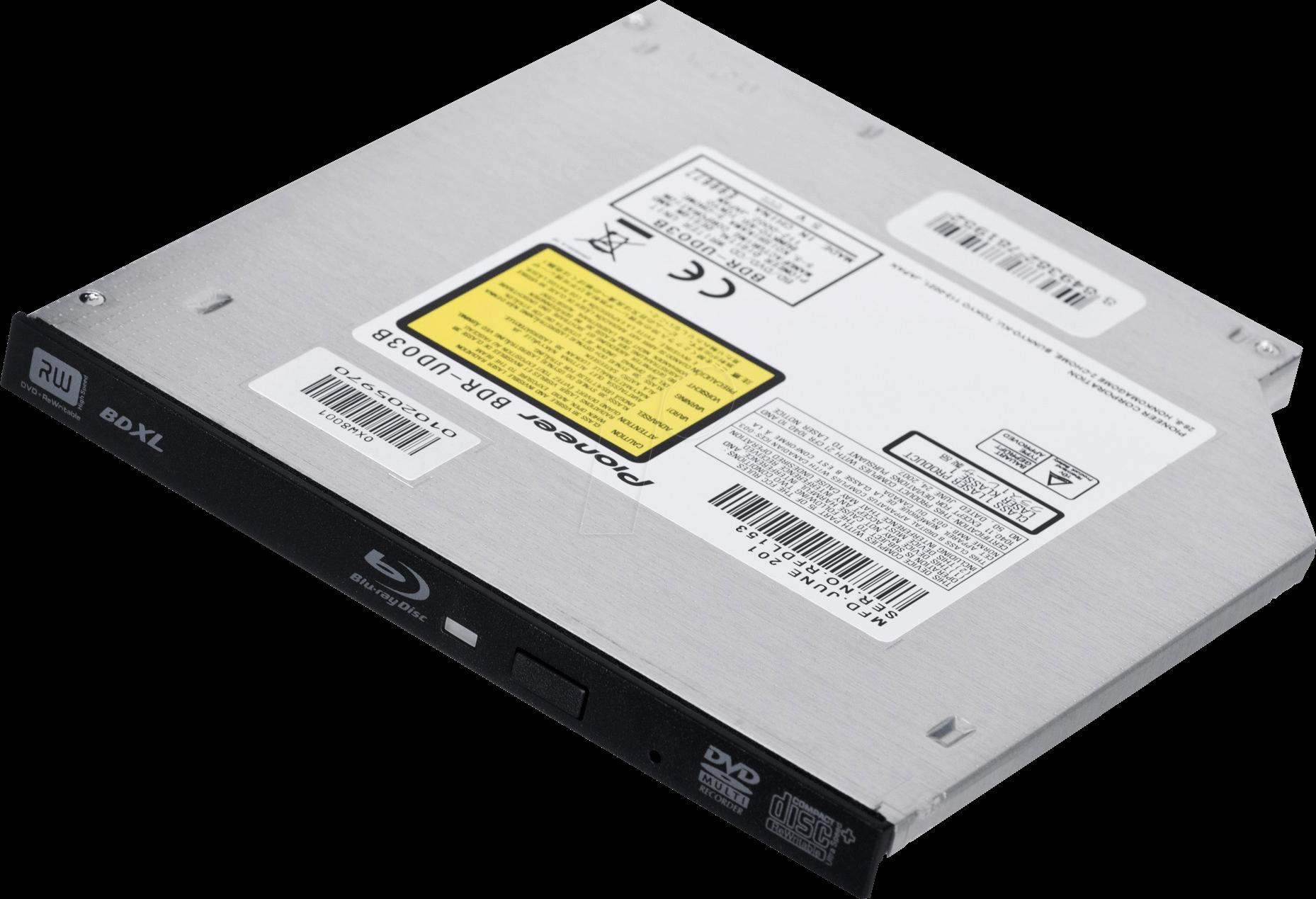 BDR-UD03B - Slimline Blu-ray Brenner Pioneer