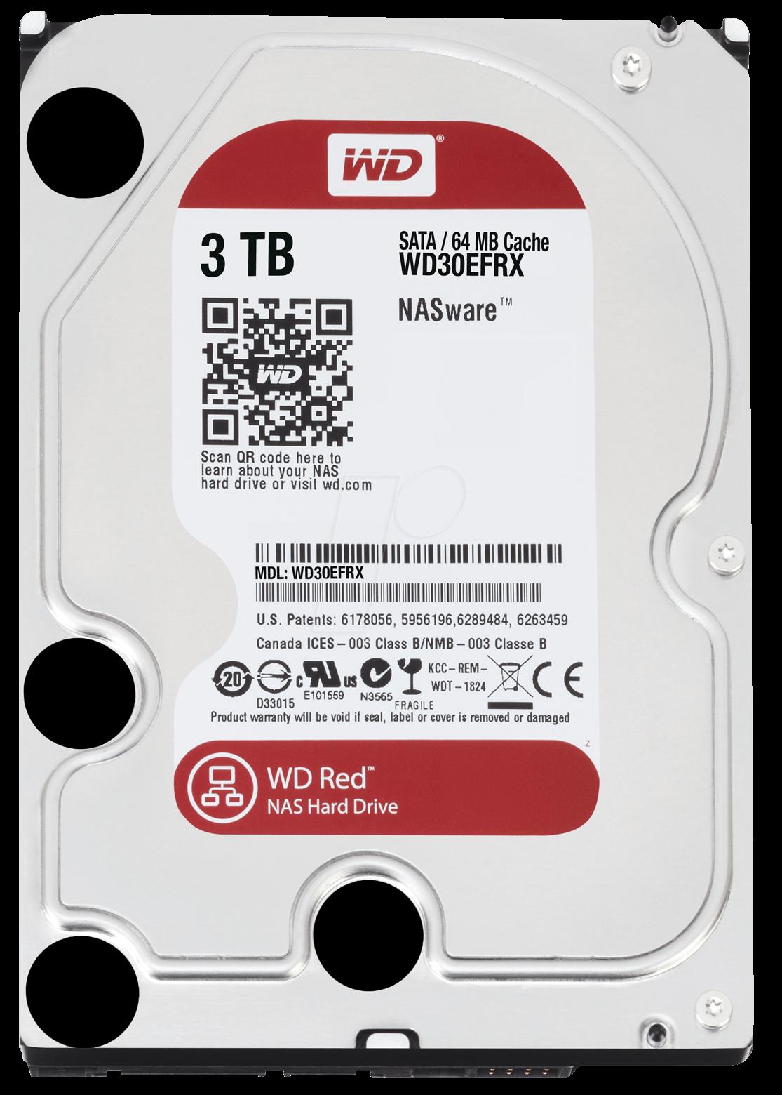 WESTERN DIGITAL WD30EFRX-OEM - WD Red 3,5-Zoll-NAS-Festplatte mit 3 TB, OEM WD30EFRX OEM