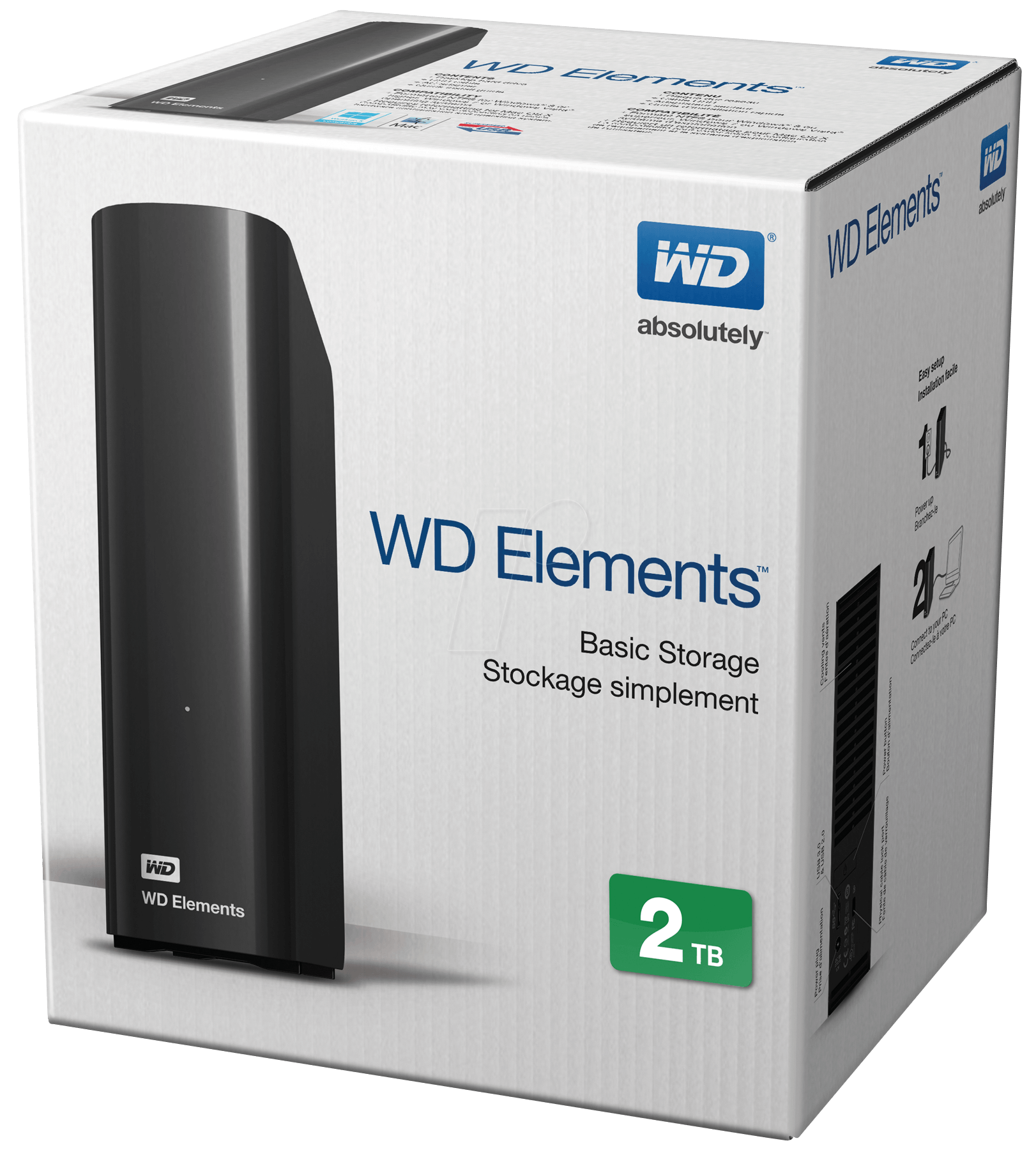 Wdbwlg0020hbk 2 Tb Wd Elements Desktop Usb 30 At Reichelt Elektronik Harddisk Eksternal 2tb Western Digital Eesn