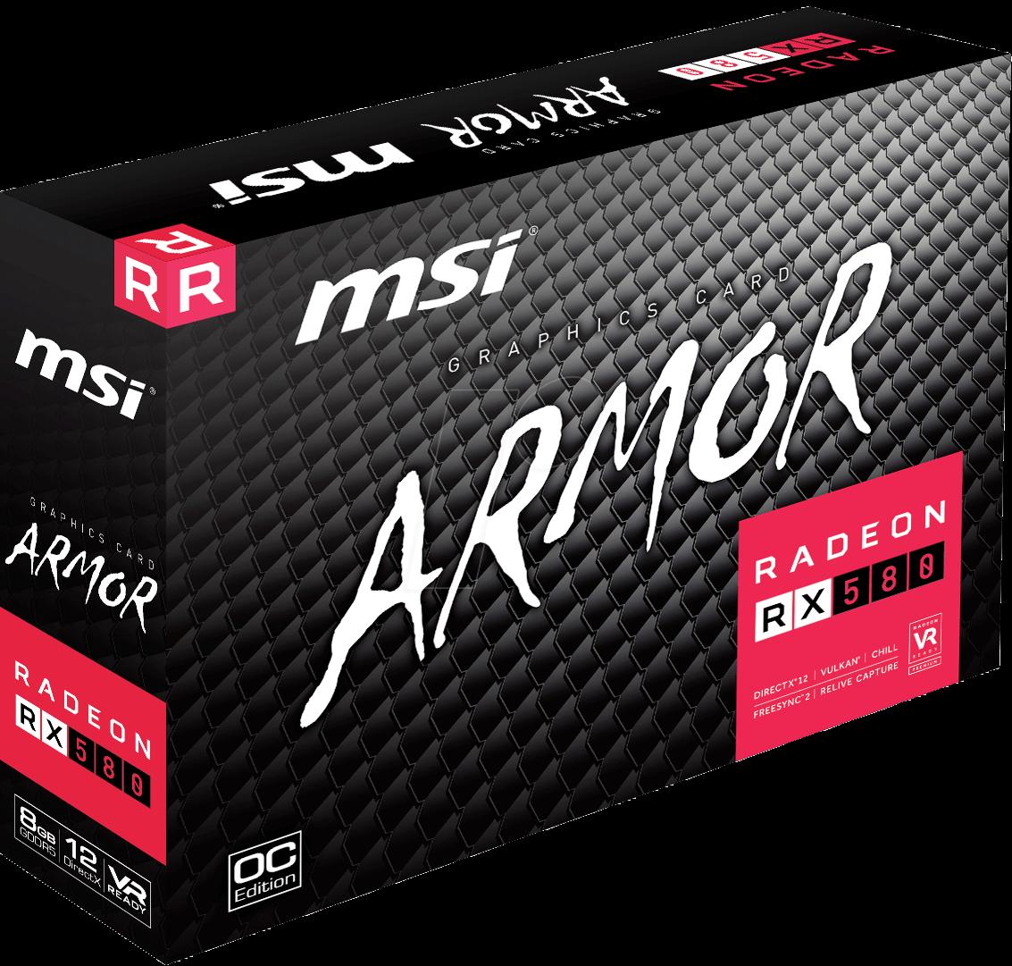 MSI V341-064R - MSI Radeon RX 580 Armor - 8GB