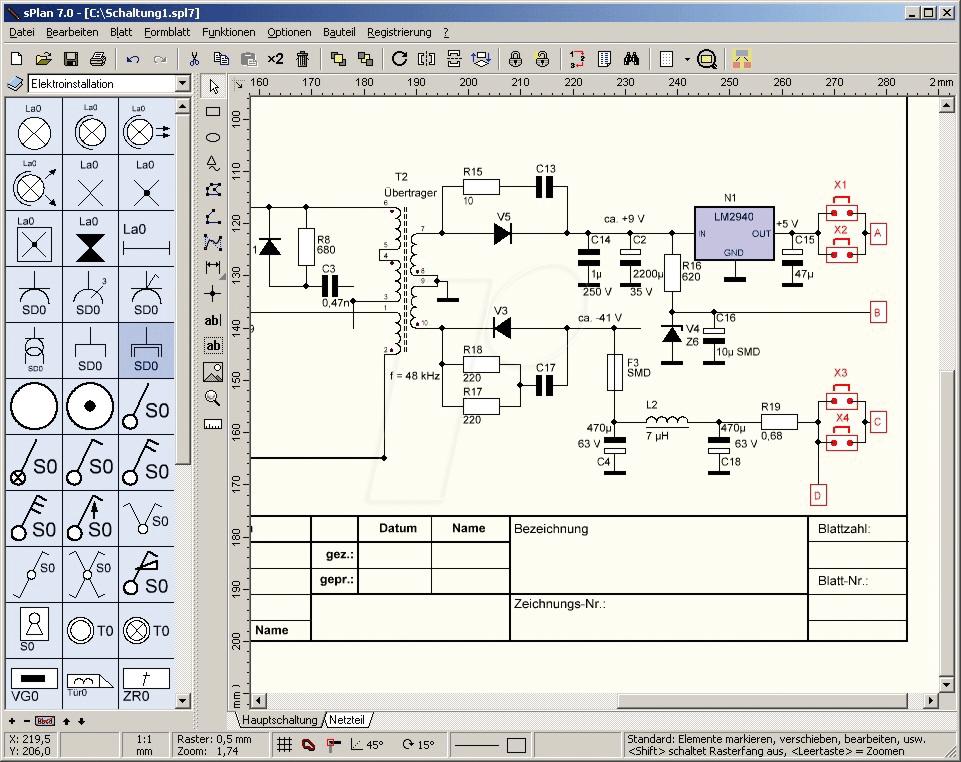 Как перенести схему в splan