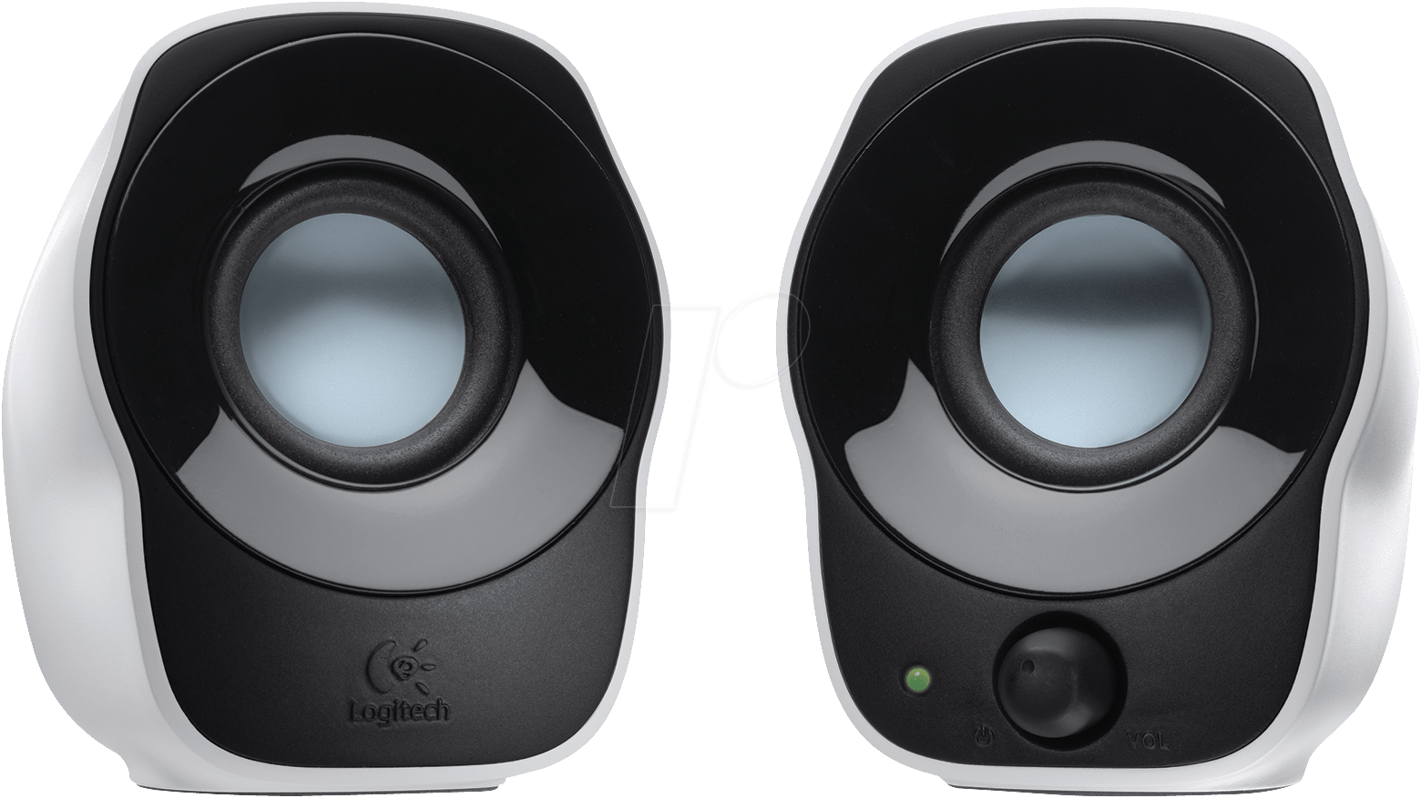 how to connect logitech z4 speakers to computer