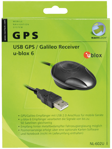 navilock 61840 gps galileo empf nger u blox 6 bei