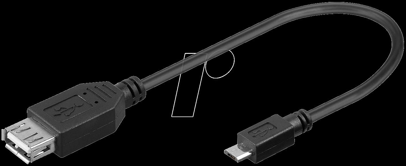 AD USB OTG ABMB: USB micro B male > USB 2.0 A female cable at ...