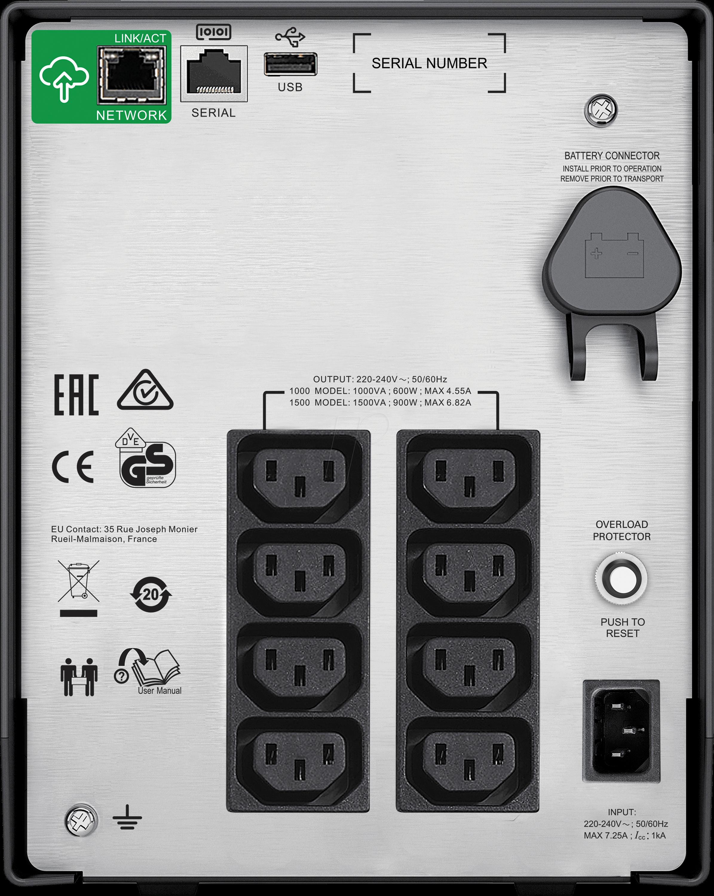 Apc Smc1500ic Smart Ups C 1500va Lcd 230v At Reichelt Elektronik