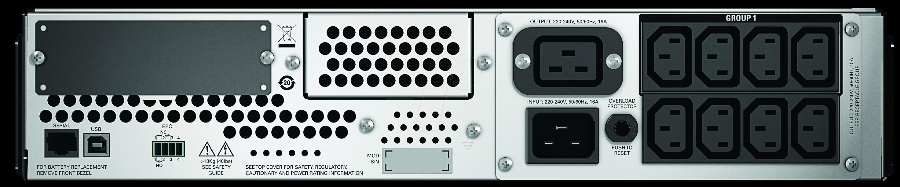 APC SMT3000RMI2U - APC Smart-UPS 3000 VA USB & serial RM 2U