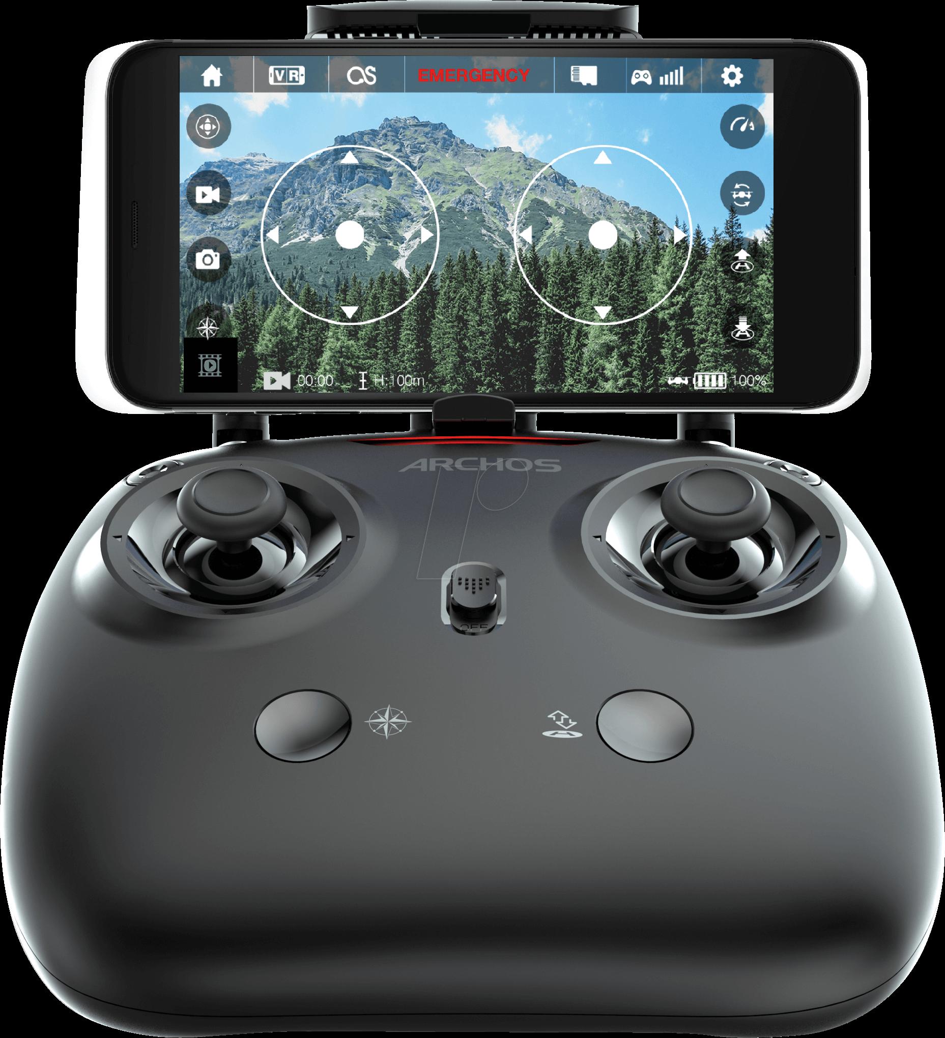 Quadrocopter Drone VR Schwarz Grun ARCHOS 503507