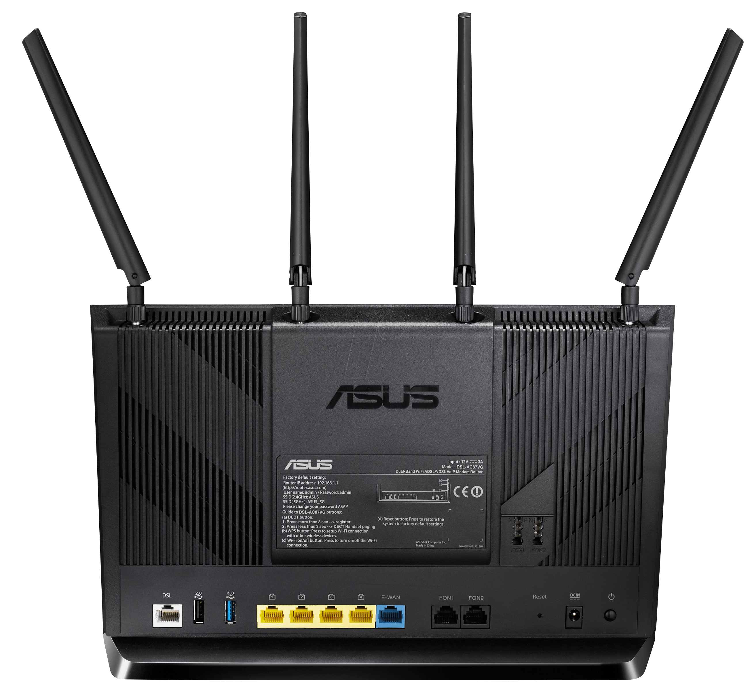 asus dsl ac87vg wlan router 2 4 5 ghz adsl vdsl 2400. Black Bedroom Furniture Sets. Home Design Ideas