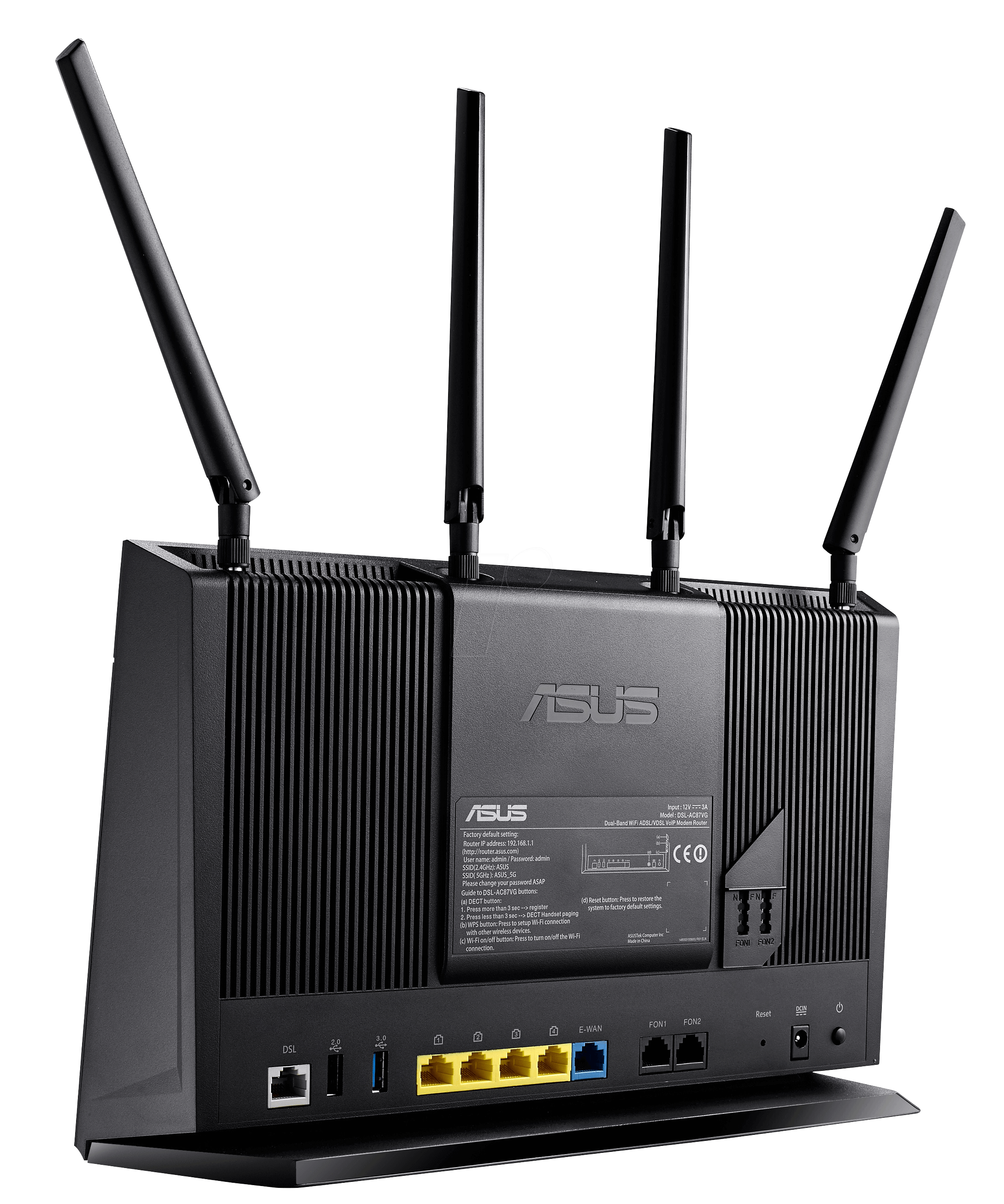 asus dsl ac87vg ac1900 adsl vdsl wifi router at reichelt elektronik. Black Bedroom Furniture Sets. Home Design Ideas