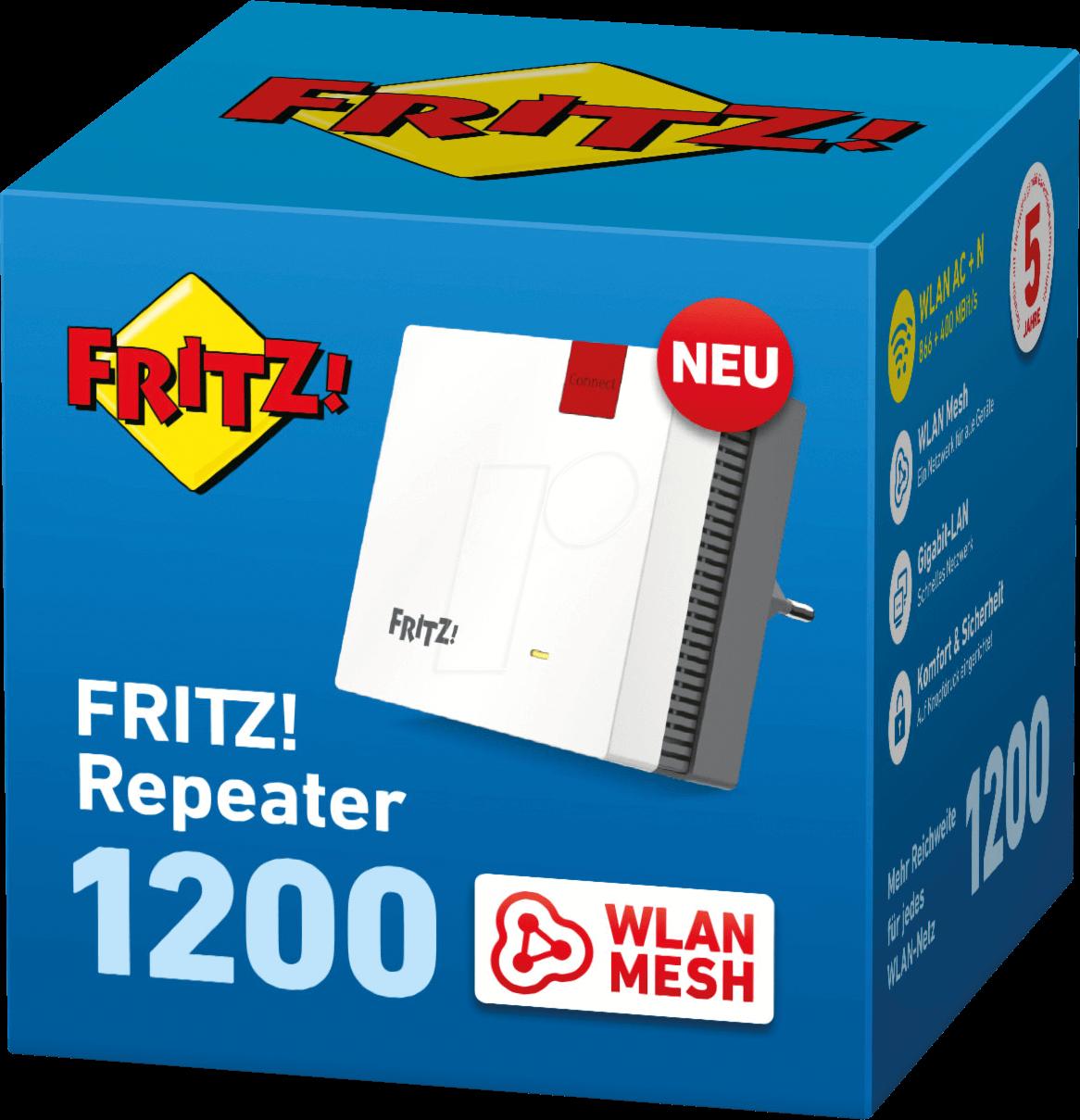 AVM FRW 20 AVM FRITZWLAN Mesh Repeater 20 bei reichelt ...