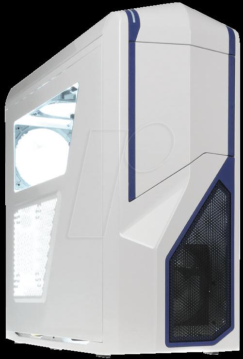 CA-PH410-W2 - NZXT Midi-Tower Phantom 410, weiß/blau