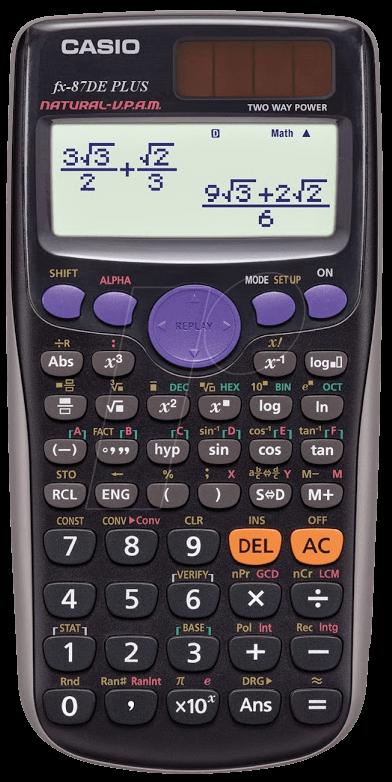 casio fx87dep scientific calculator at reichelt elektronik