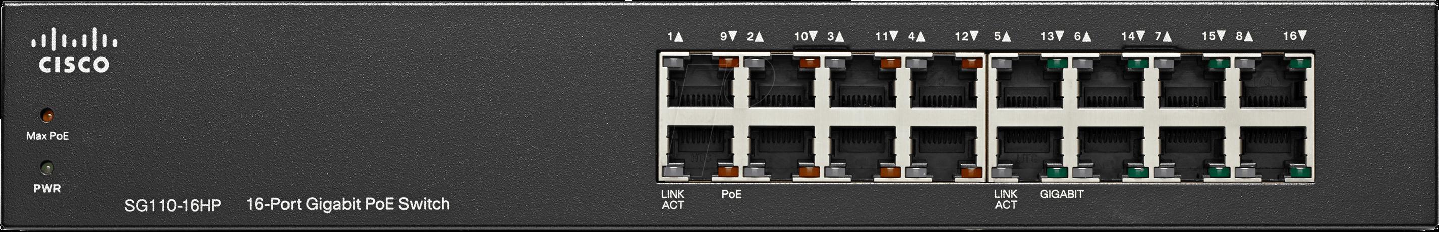 8x10//100//1000 8x10//100//1000- PoE Unmanaged SG110-16HP Switch