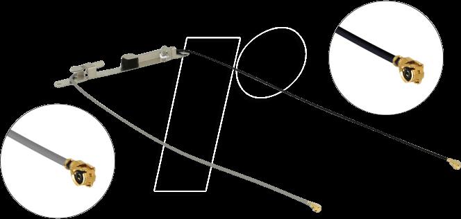 DELOCK 12541 - WLAN Antenne,MHF I Stecker