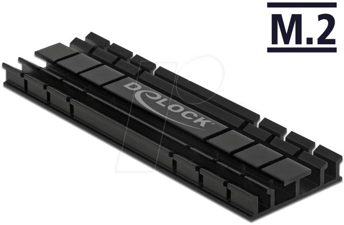 DELOCK 18285 - Heat Sink flat 70 mm for M 2 module black