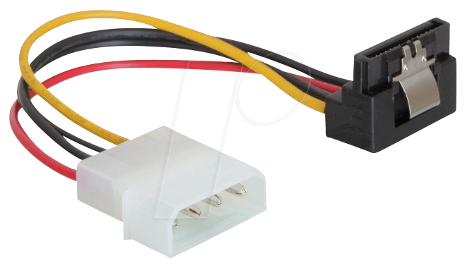 DELOCK 60121 - Molex 4 Pin Stecker > SATA 15 Pin Buchse 90°
