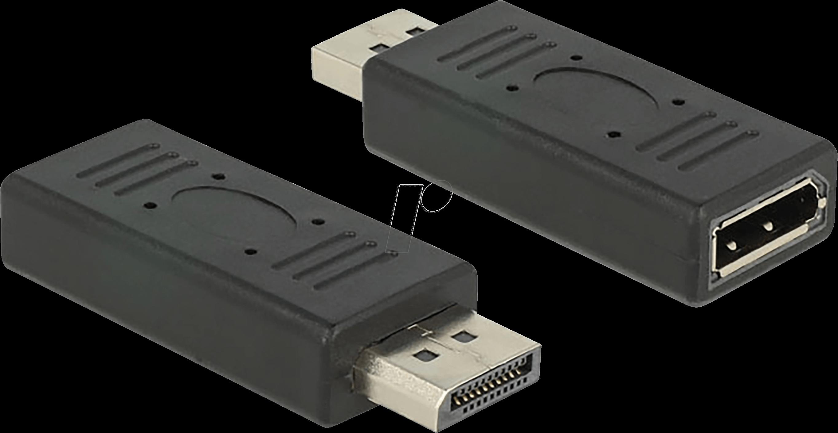 delock 65691 displayport adapter dp 1 2 stecker auf dp buchse bei reichelt elektronik. Black Bedroom Furniture Sets. Home Design Ideas
