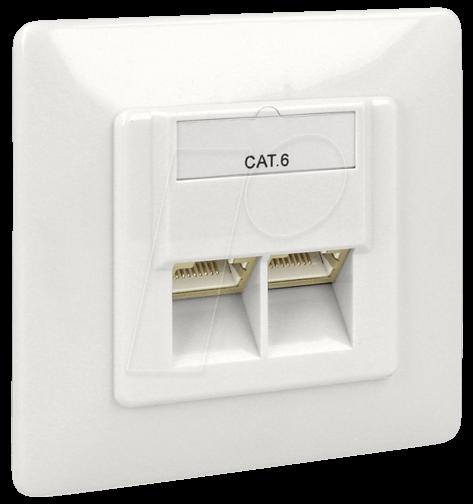 delock 86125 netzwerk dose 2xrj45 lsa unterputz cat 6 bei. Black Bedroom Furniture Sets. Home Design Ideas