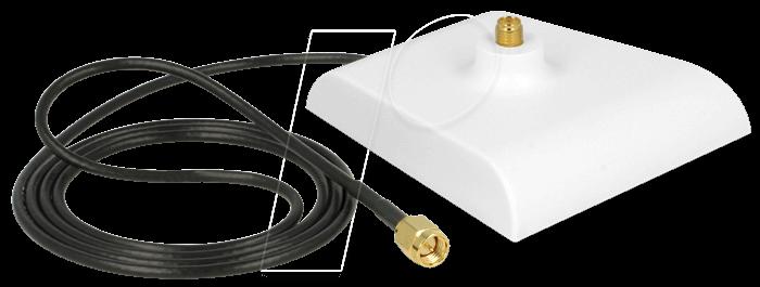 DELOCK 88974 - Magnetfuß für WLAN Antenne, SMA Stecker