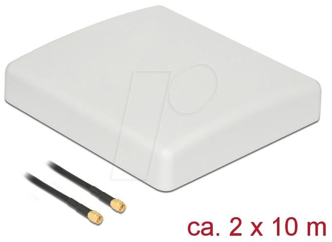 DELOCK 89891 - LTE MIMO Antenna SMA RG-58 10 m white outdoor