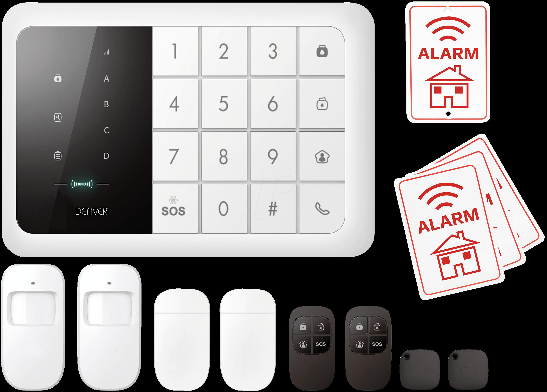 DENVER HSA Home alarm system with GSM module at reichelt