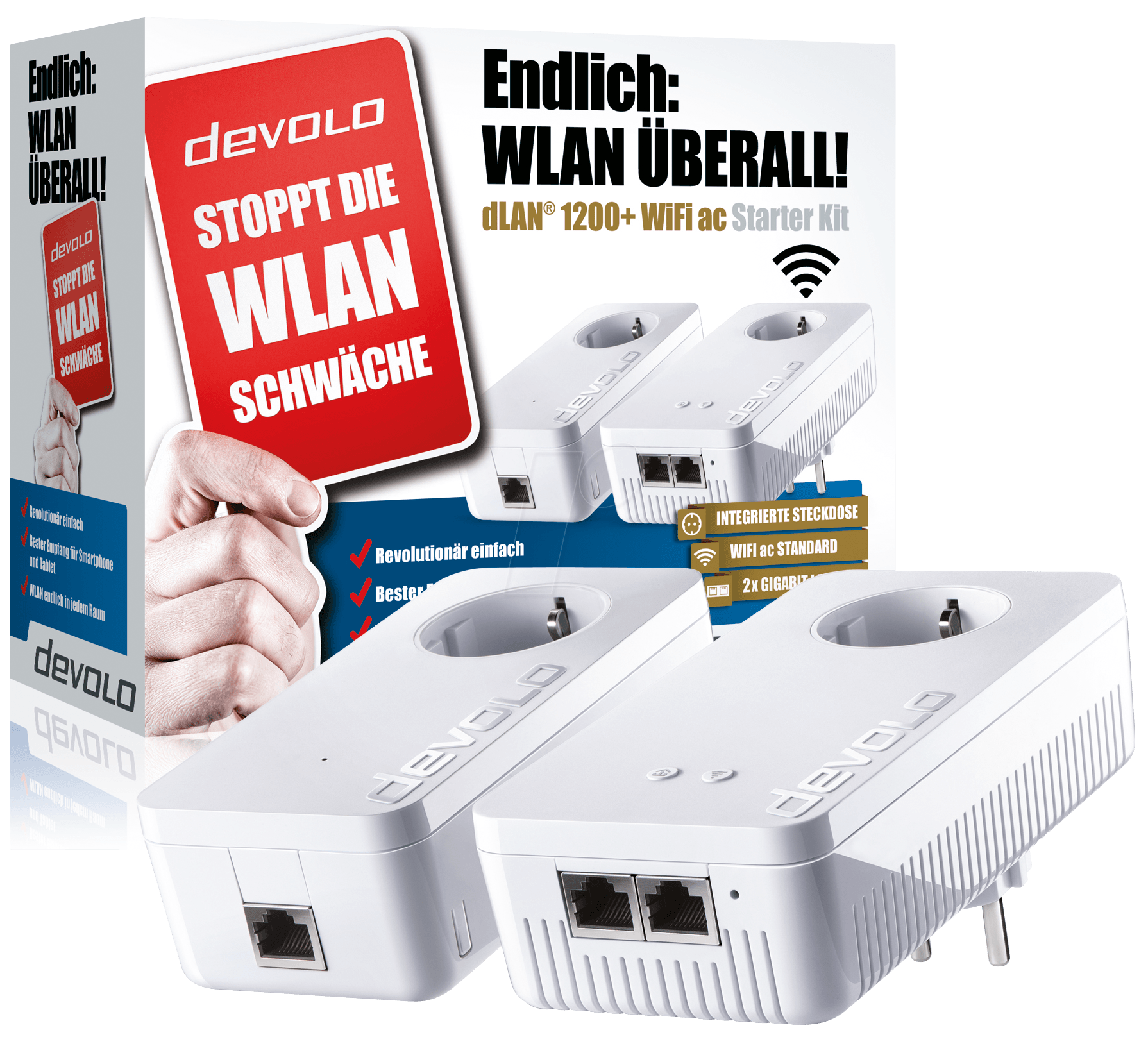 devolo 9390 devolo dlan 1200 wifi ac starter kit 2 units at reichelt elektronik. Black Bedroom Furniture Sets. Home Design Ideas