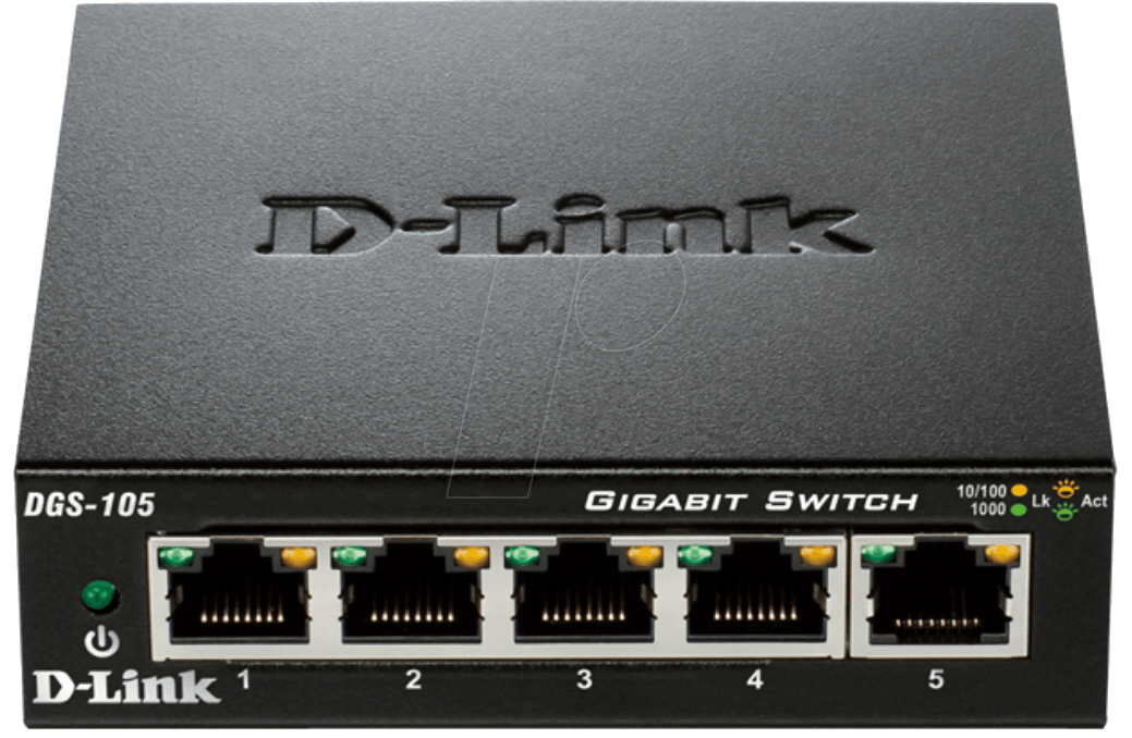 D-LINK DGS-105 - Switch, 5-Port, Gigabit Ethernet