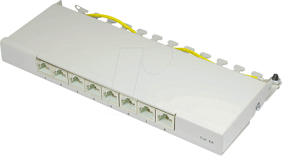GC N0081 - Patchpanel, 8-Port, Cat.6a, 0,5 HE