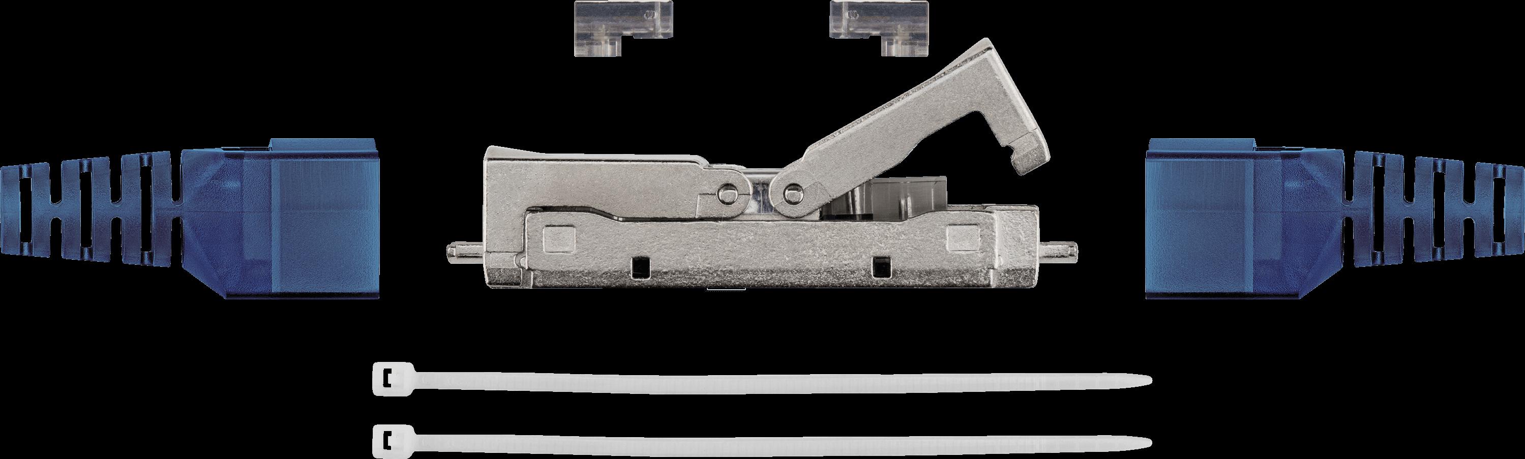 GOOBAY 79579: Werkzeugfreier Kabelverbinder, Cat.6a, STP geschirmt ...