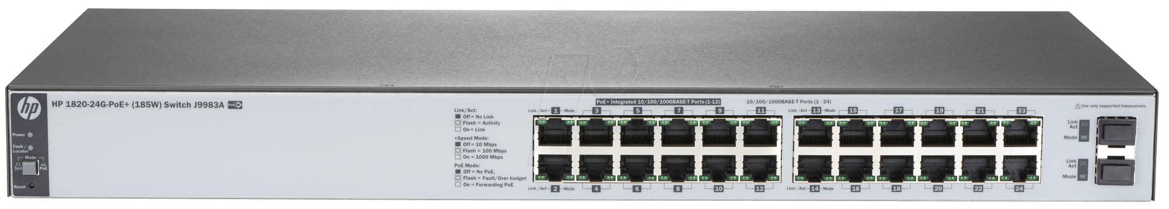 Hp 1820 24gpoe Hp 1820 24g Switch With 24x 10 100