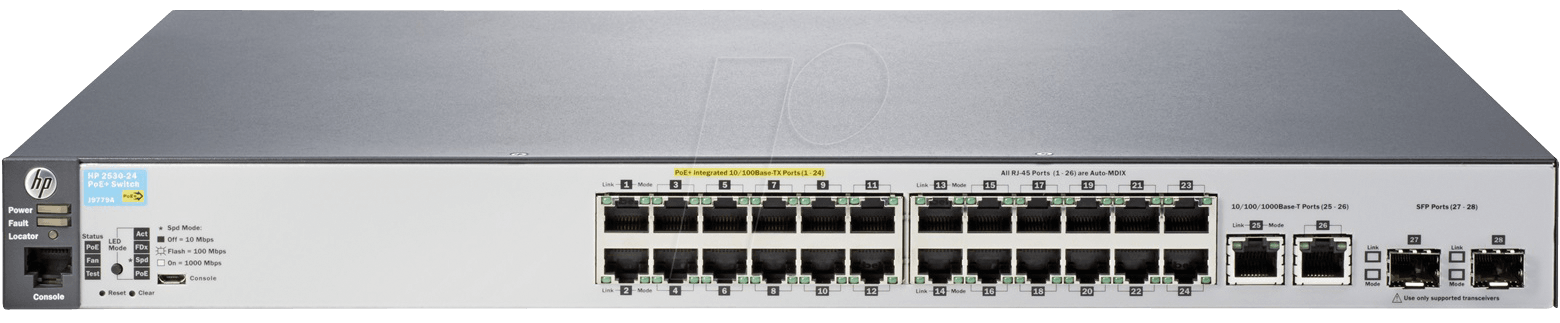 HP J9779A - HP 2530-24-PoE+ switch — managed