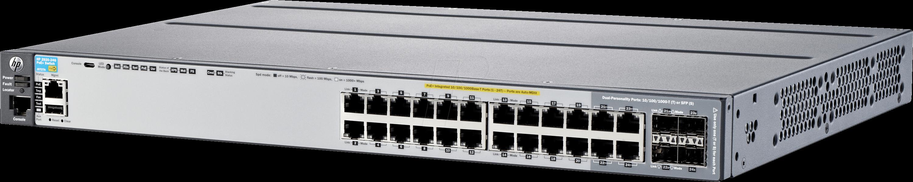 HP 2920-24G-POE+ - Switch, 24-Port, Gigabit Ethernet, PoE