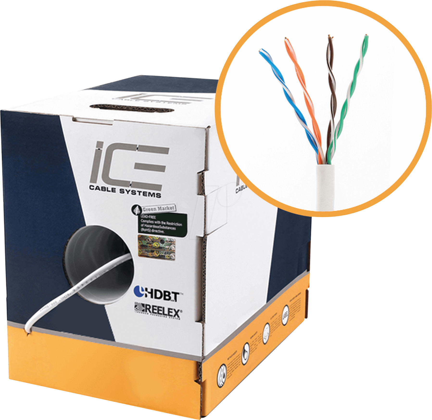 Ice Cat5e Bl Cable Utp 24awg 305m At Reichelt Elektronik Cat 5e Wiring