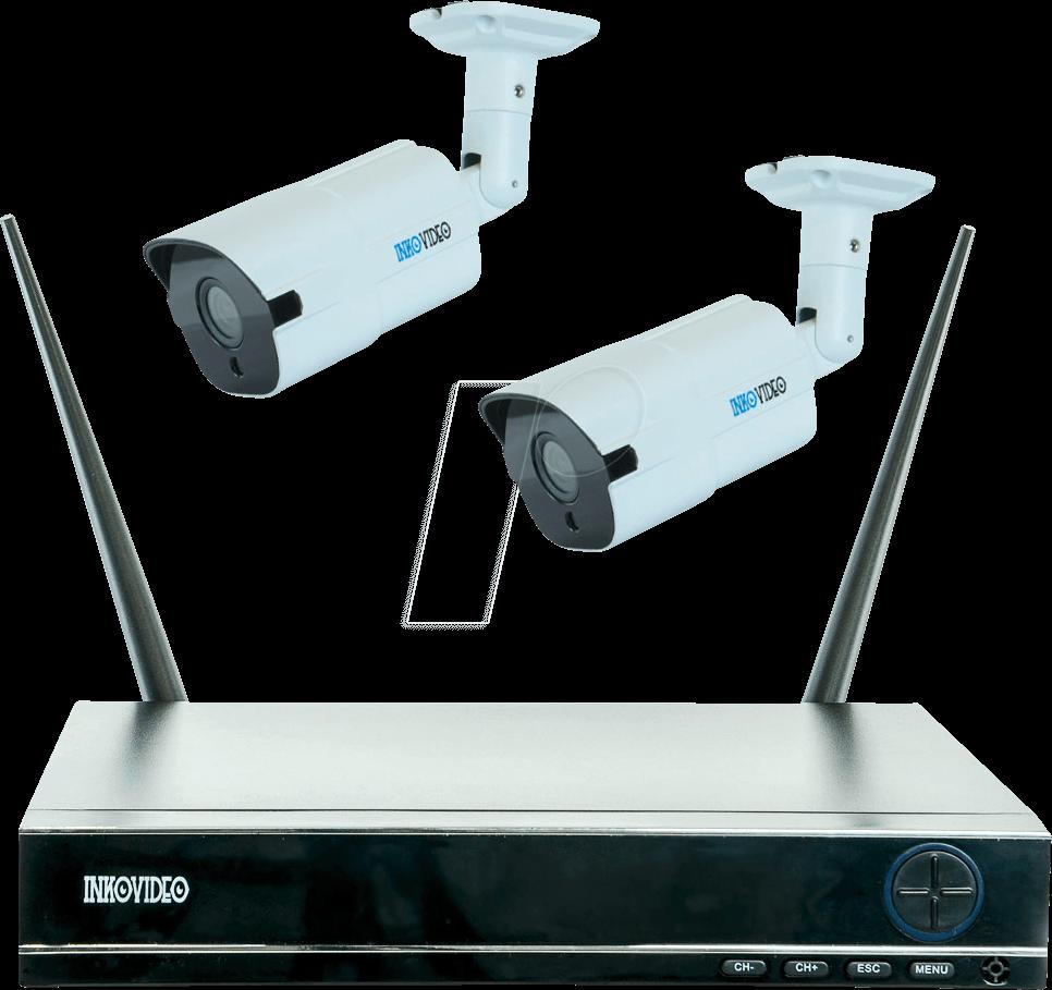 ikv inko mw netzwerk videorekorder set inkl  kameras