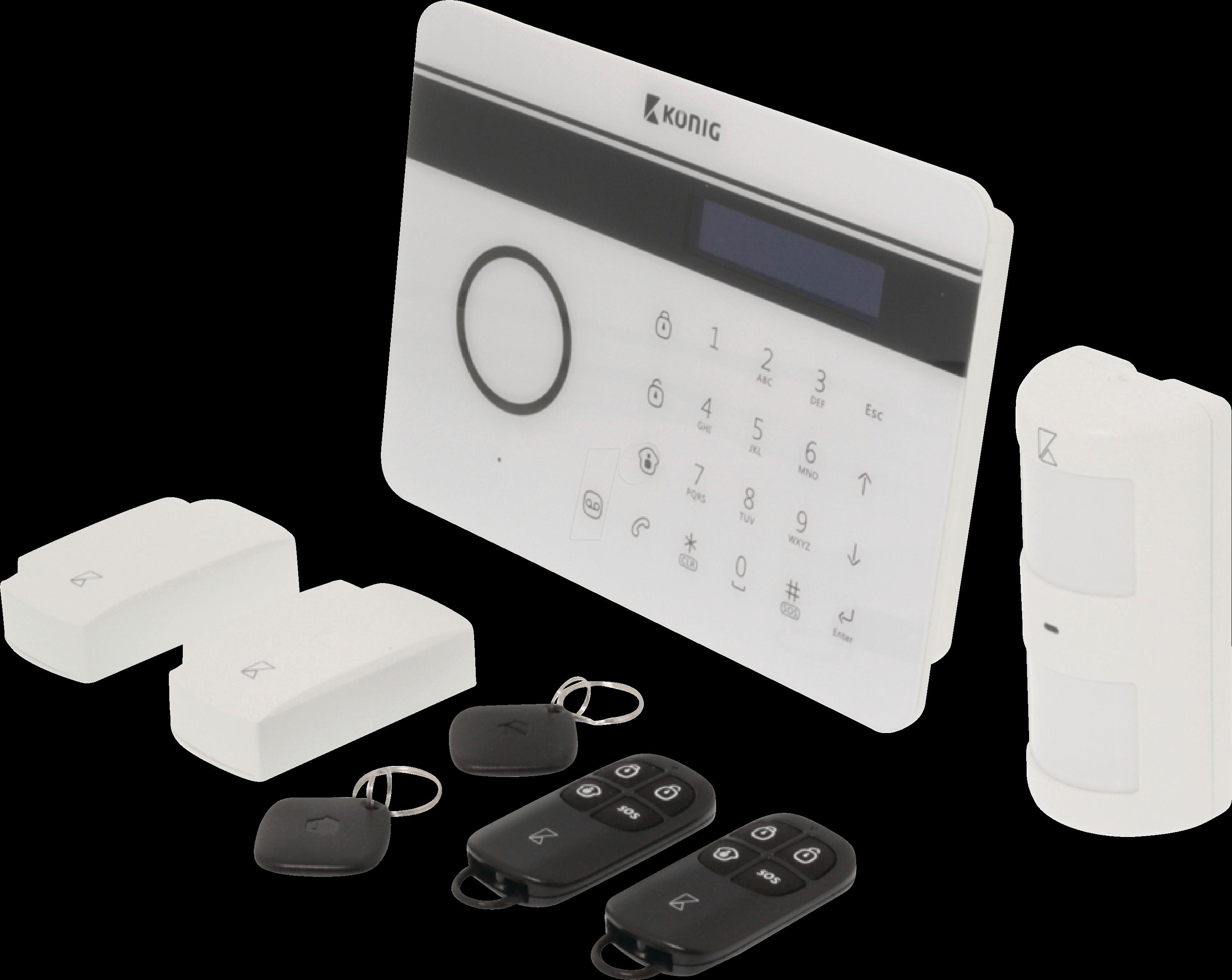 kn sas-alarm300: alarmanlage, funk 433 mhz, mit gsm modul bei