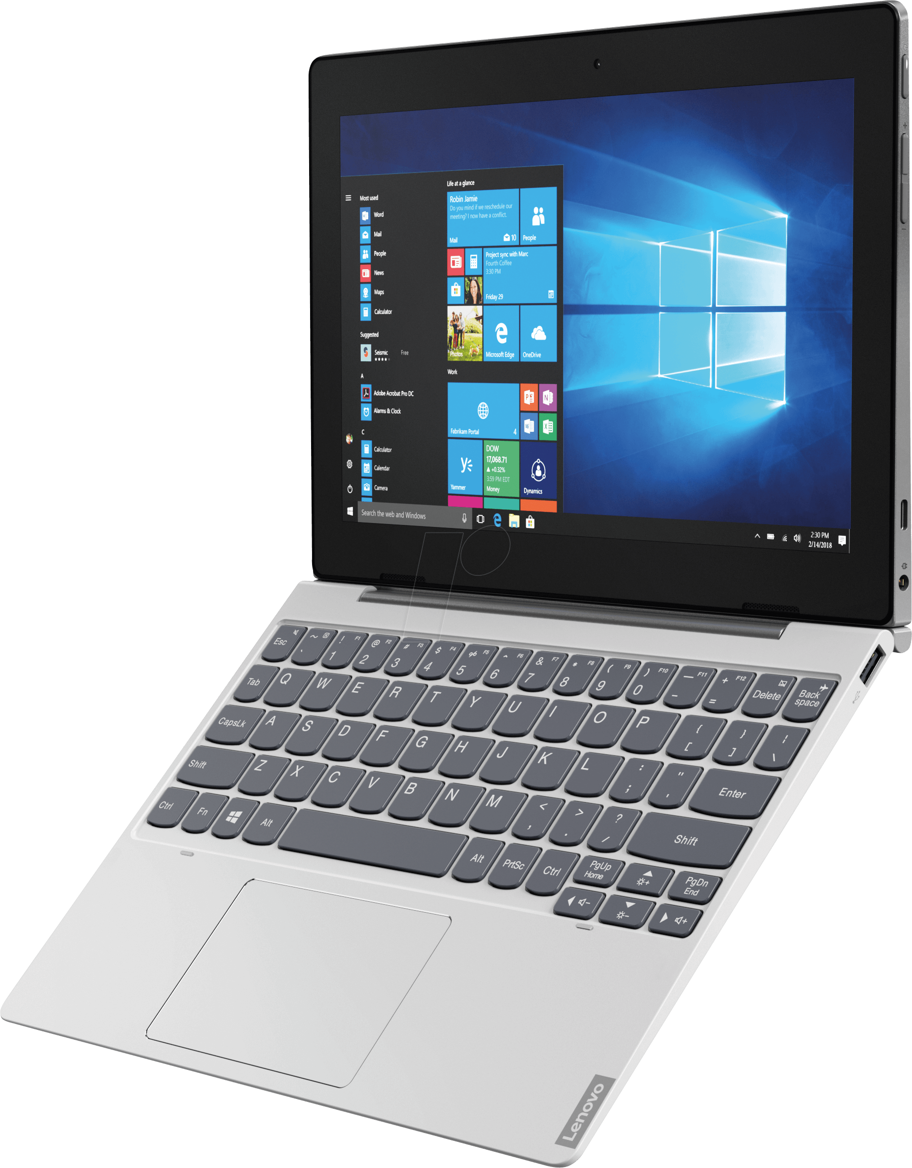 LENOVO 81MD0008 - IdeaPad D330 tablet, 10 1 inches, Windows 10