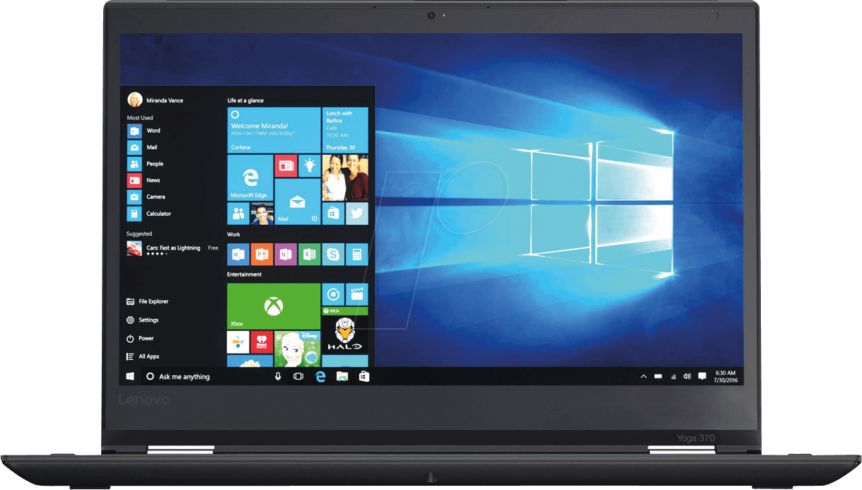 H002KGE - Laptop, ThinkPad Yoga 370 2-in1-PC, SSD, Windows 10 Pro