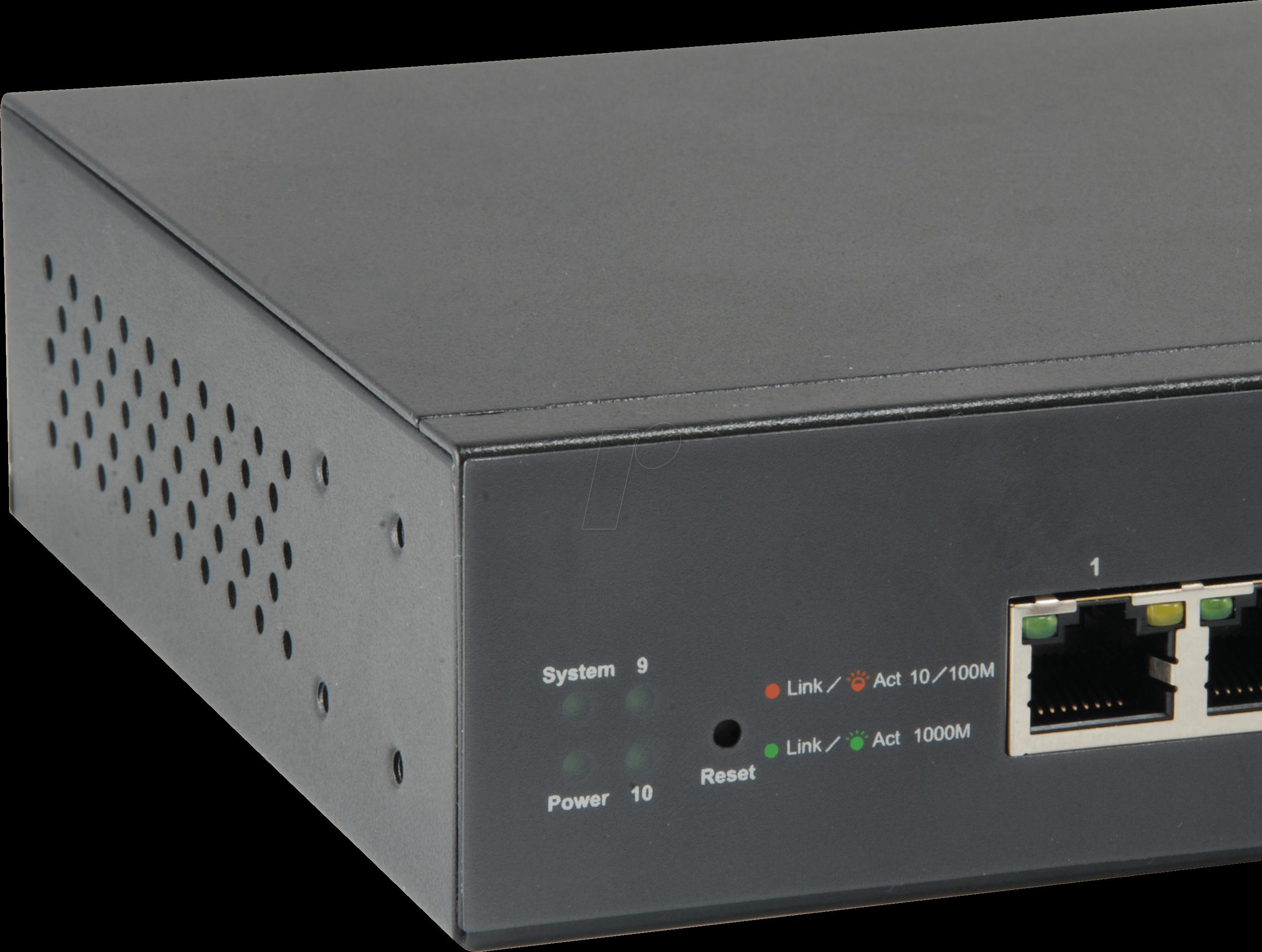 LEVELONE GEP1051 - 10-port Gigabit Ethernet switch, PoE, SFP