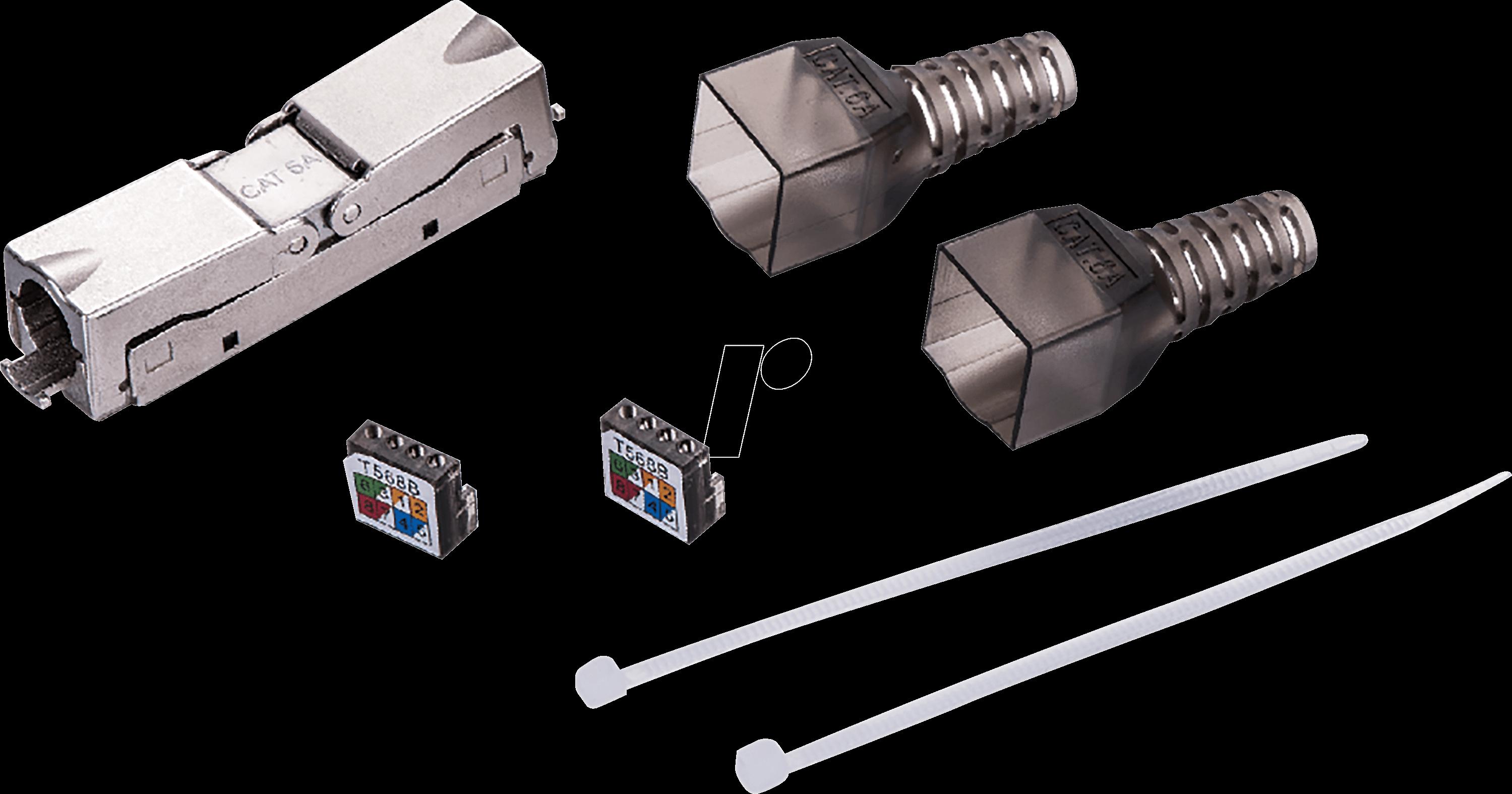LOGILINK MP0046: Feldkonfektionierbarer Kabelverbinder STP Cat.6A ...